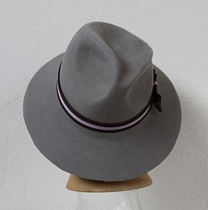 CB158 Asymmetric trilby hat block
