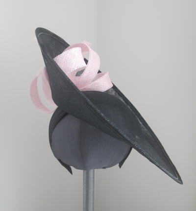 Saucer hat by Jacqeline Gray Millinery