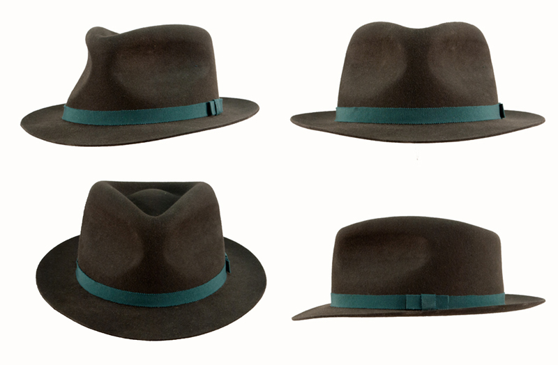 Making men's hat - an example of a fedora using the blocking in one technique