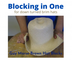 Blocking in one down turned brim